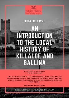Copy of killaloe local history society poster first meeting (1)