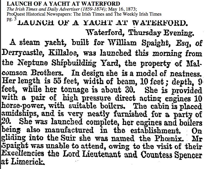 Irish Times 1873