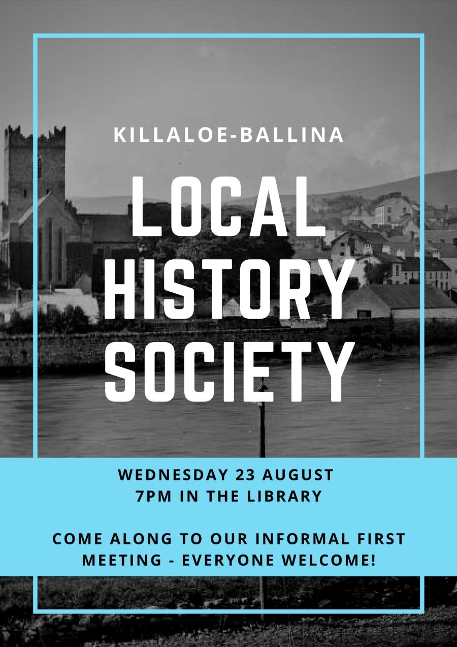 killaloe local history society poster first meeting (2)